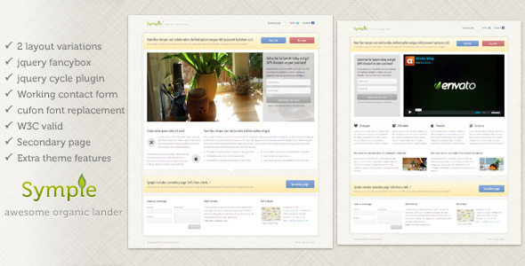 Symple landing page by tansh