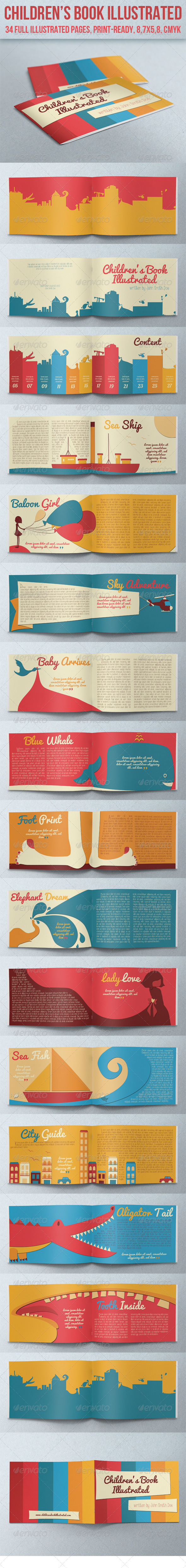 Children's Book Illustrated - Miscellaneous Print Templates
