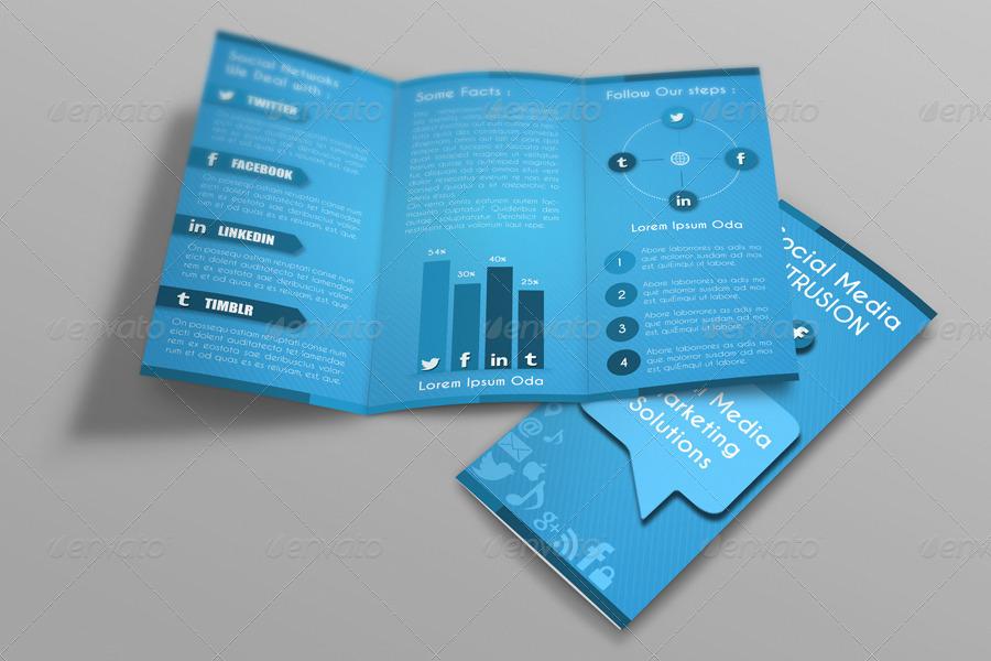 Social Media Tri Fold Brochure Template By Idesignstudionet