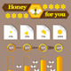 Honey and Bees - GraphicRiver Item for Sale