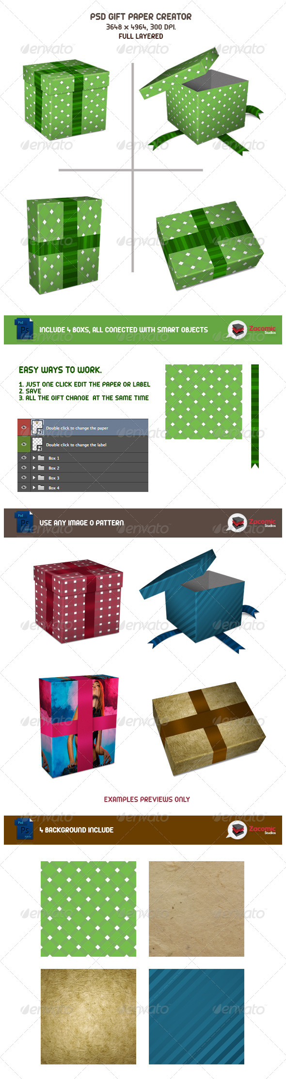 Gift Paper Creator - Product Mock-Ups Graphics
