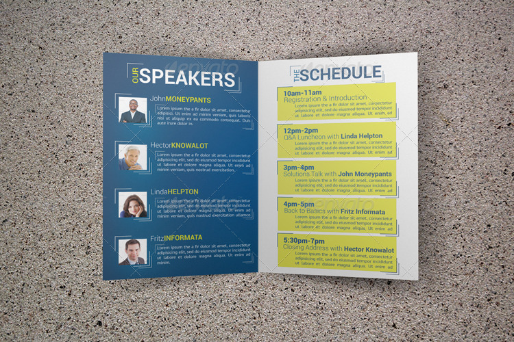 expectations conference bifold brochure by fakerjack