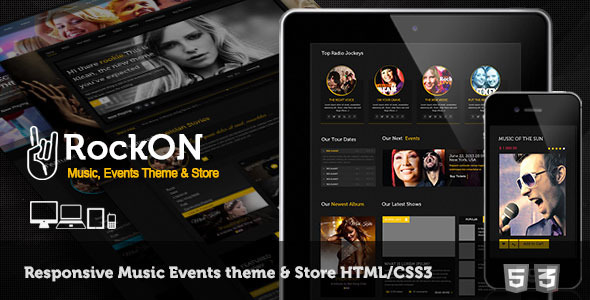 RockOn – Multipurpose Music Events, Store Template