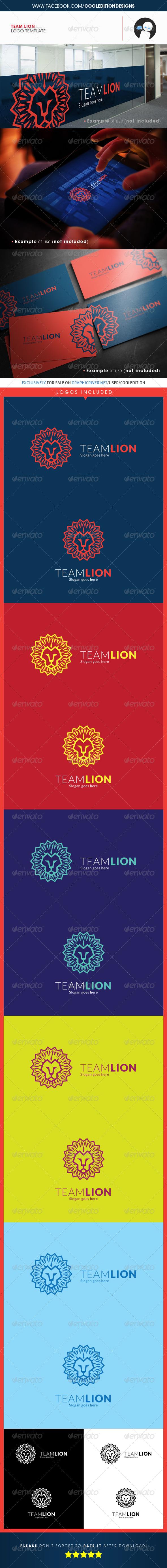 Team Lion - Logo Template - Animals Logo Templates