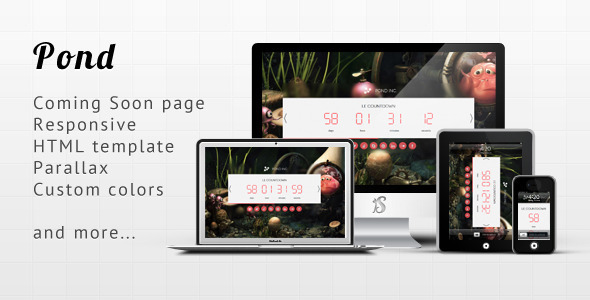 Pond – Responsive Minimalist Coming Soon Template