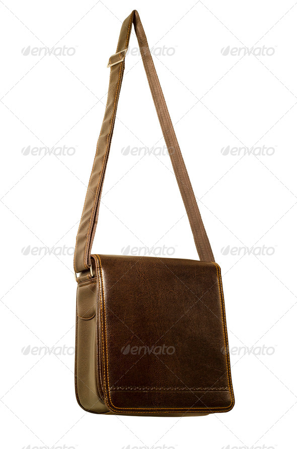 Men's Leather Bag - Stock Photo - Images