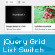jQuery Grid and List Switch