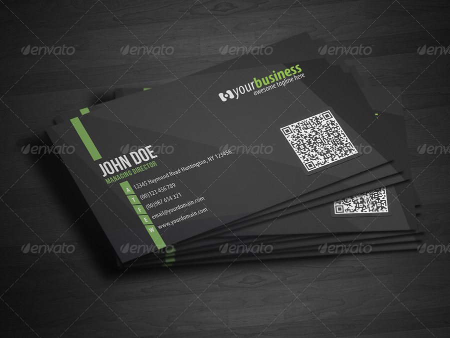 Corporate QR Code Business Card V4 by glenngoh | GraphicRiver