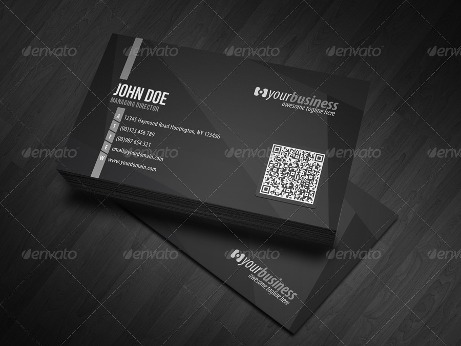 Corporate qr code business card v4 by glenngoh graphicriver corporate qr code business card v4 colourmoves