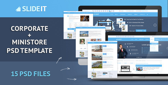 Slideit – Corporate & miniStore PSD Template