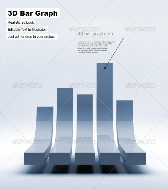 3D Bar Graph - 3D Backgrounds