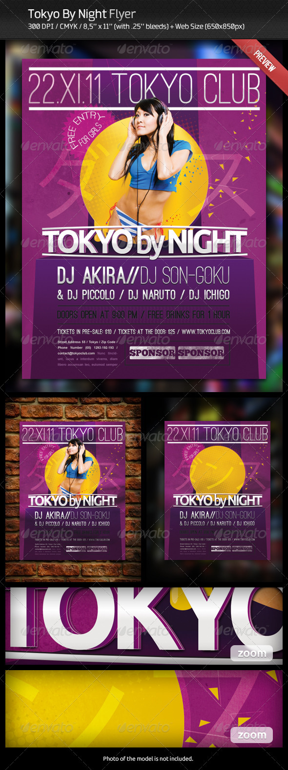 Tokyo By Night Flyer - Clubs & Parties Events