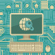 Circuit Board with a Computer and Web Icons - GraphicRiver Item for Sale