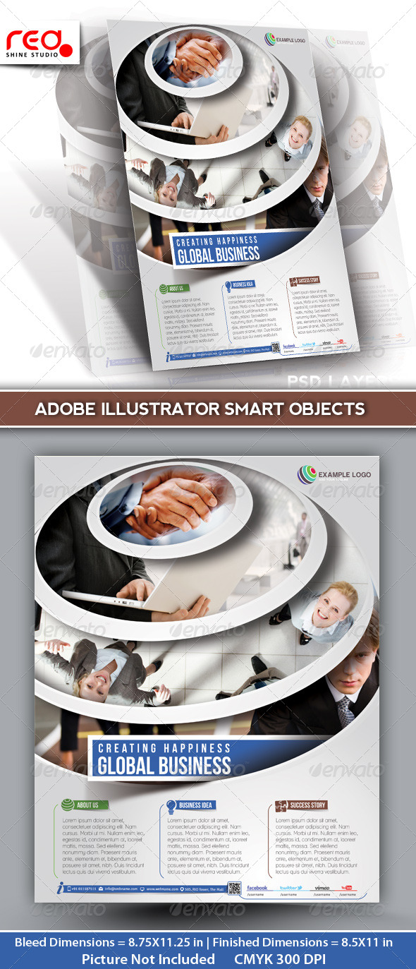 Global Business Flyer Poster Magazine Template 03 - Corporate Flyers