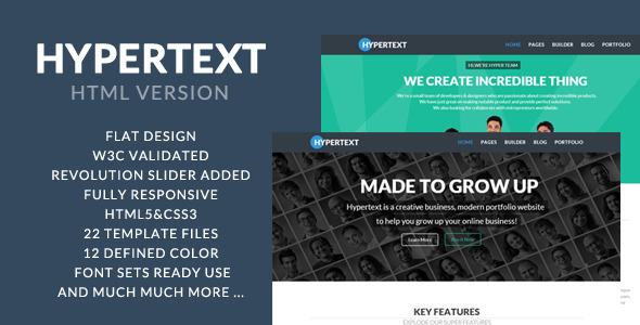 Hypertext – Flat Portfolio HTML Template