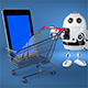 3d Robot with shopping cart - GraphicRiver Item for Sale