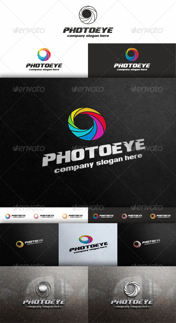 Photo Eye - Diaphragm Logo - Vector Abstract