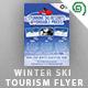 Winter Ski Tourism Flyer - GraphicRiver Item for Sale