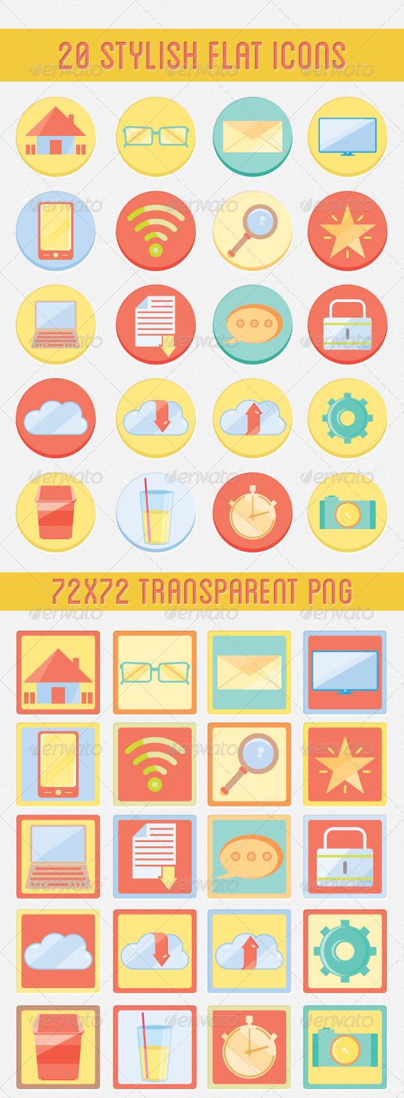 Flat Web Icon Set - Web Icons