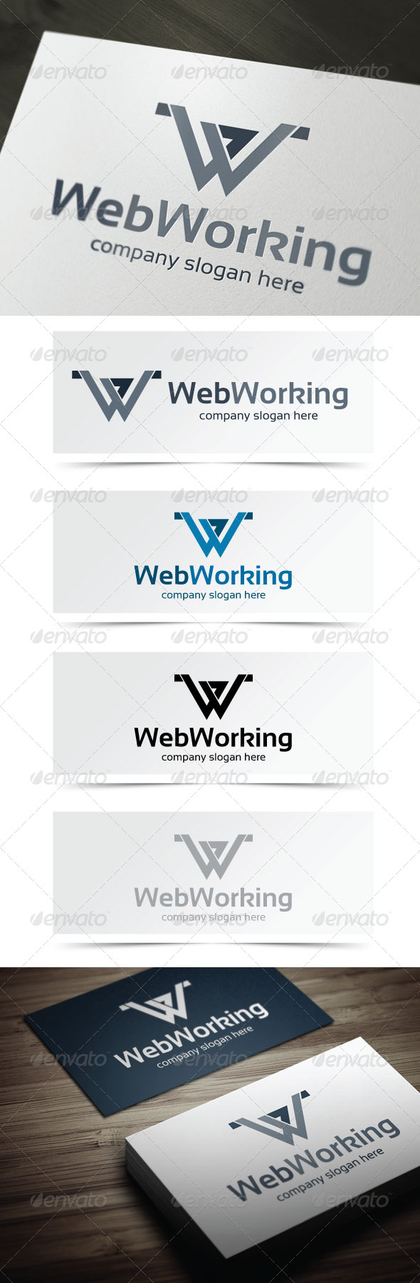 Web Working - Letters Logo Templates