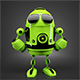 Green Robot posing in stylish sunglasses - GraphicRiver Item for Sale