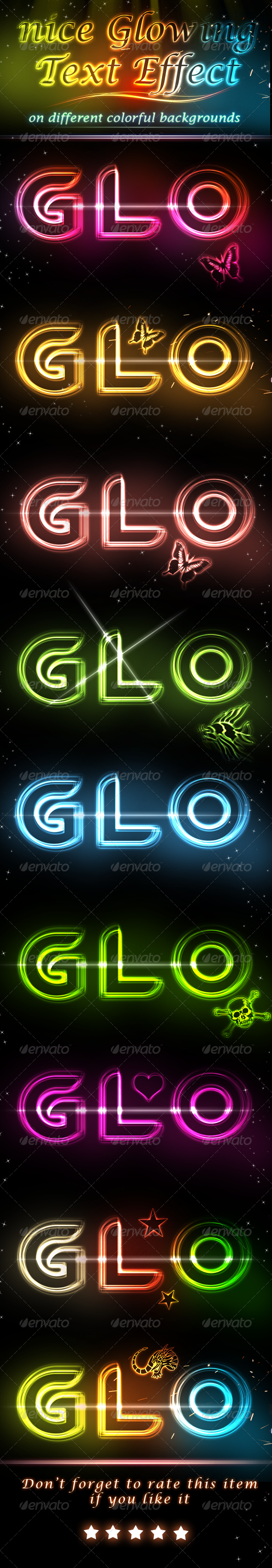 Glowing Light Text Effect V.2 - Text Effects Styles