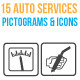 15 Auto Services Pictograms & Icons - GraphicRiver Item for Sale