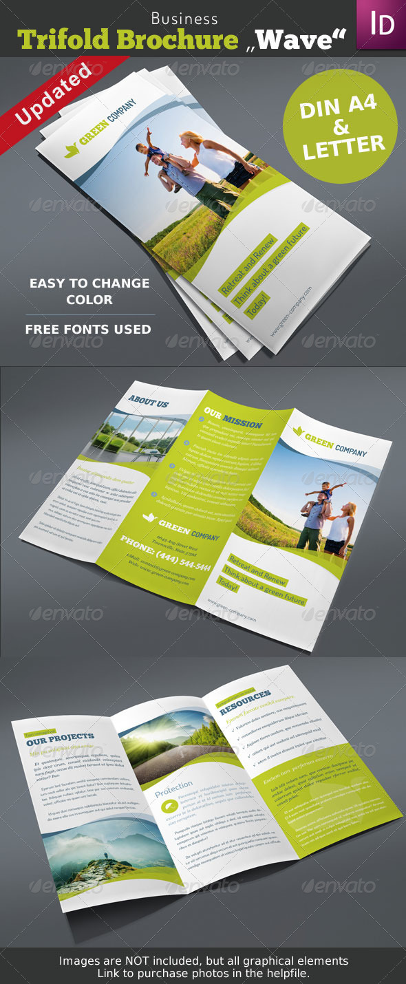 Trifold Brochure Wave Vol. 1 - Corporate Brochures