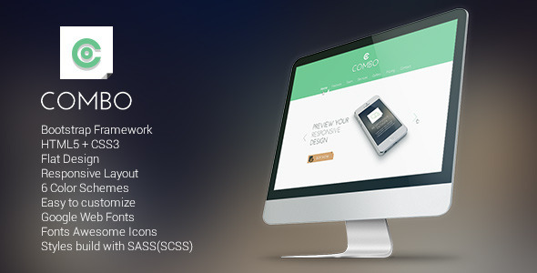 Combo – Responsive Flat Landing Page