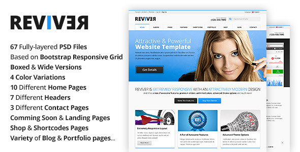 Reviver – Multi-Purpose PSD Template