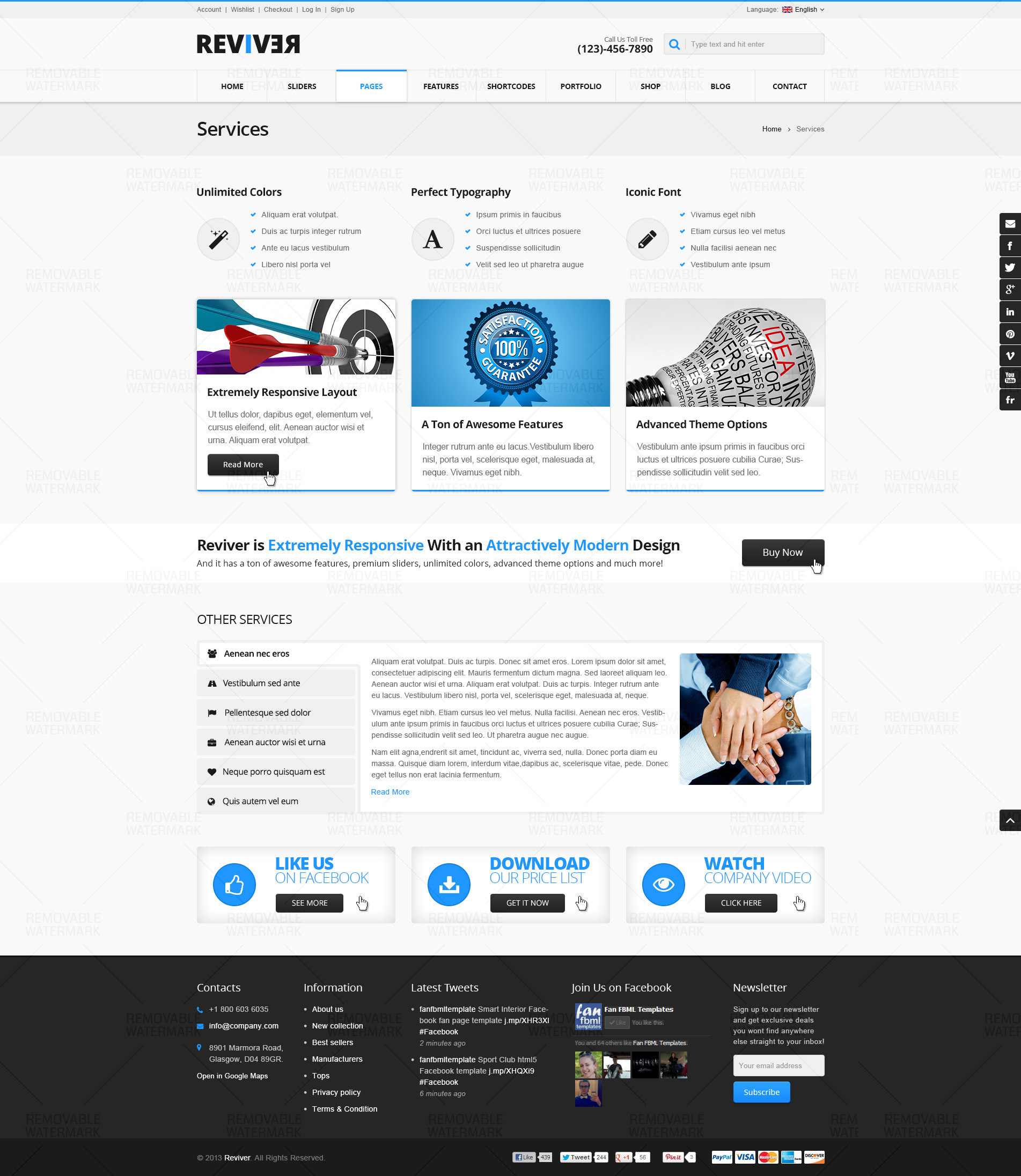 Reviver Multi Purpose Psd Template By Monkeysan Themeforest