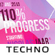Progressive Techno Flyer - GraphicRiver Item for Sale