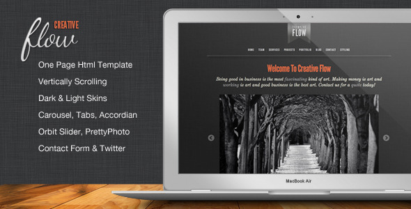 Creative Flow – Scrolling Portfolio Template