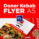 Doner Kebab A5 Flyer - GraphicRiver Item for Sale
