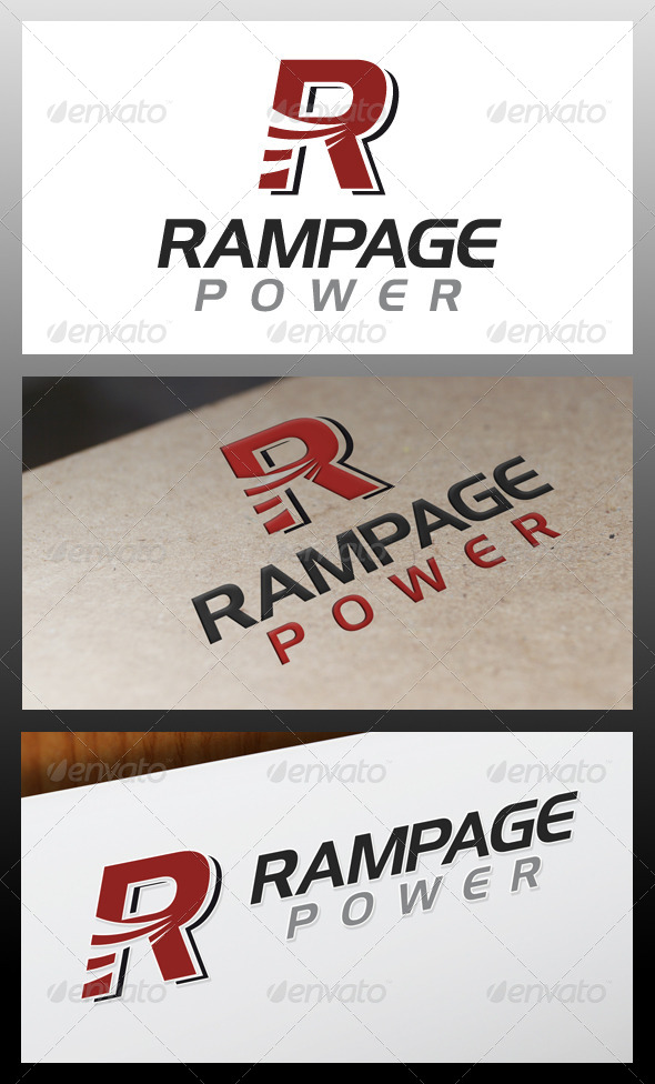 Rampage letter r logo template by bosstwinsart graphicriver rampage letter r logo template letters logo templates thecheapjerseys Gallery