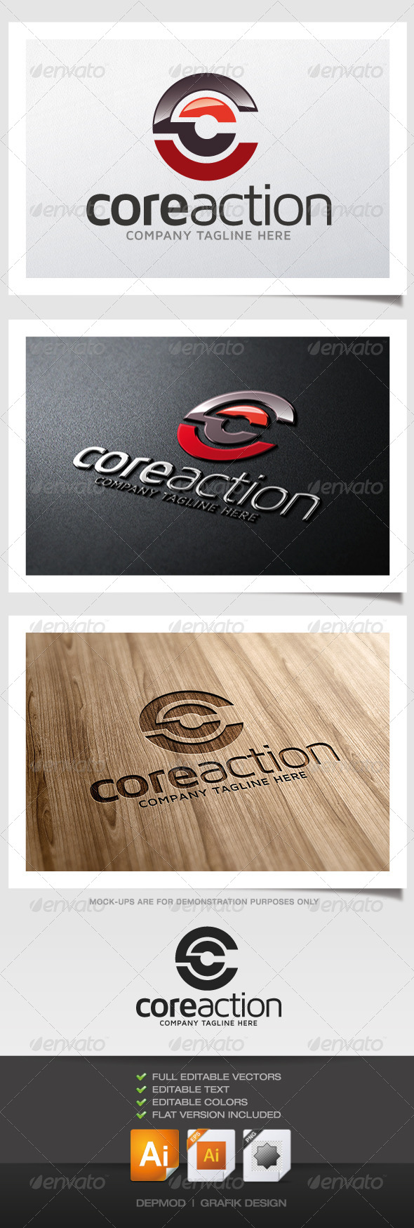 Core Action Logo - Abstract Logo Templates