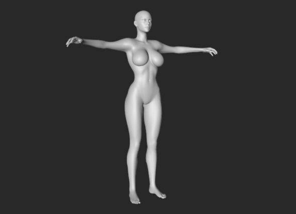 HQ Beautiful Female Body - 3DOcean Item for Sale