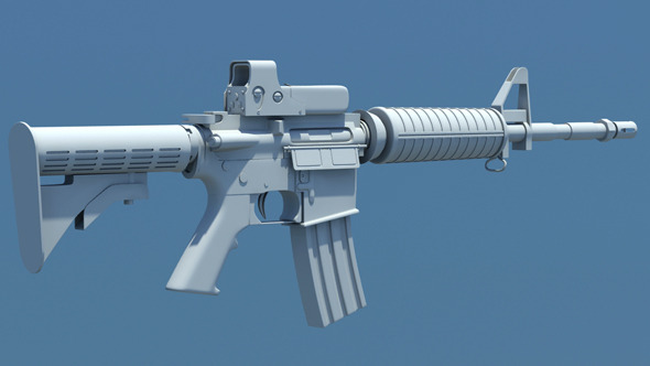 M4 Carbine Assault Rifle - 3DOcean Item for Sale