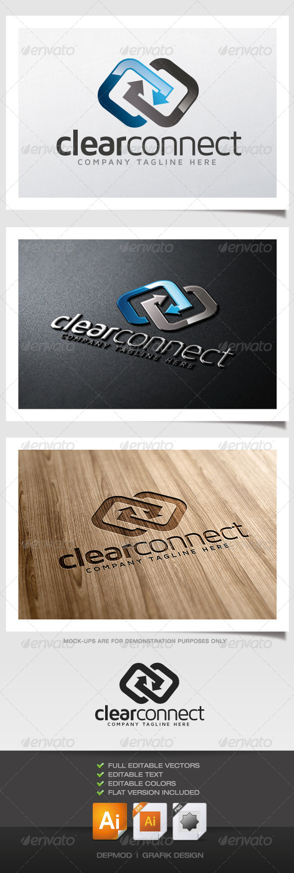 Clear Connect Logo - Abstract Logo Templates
