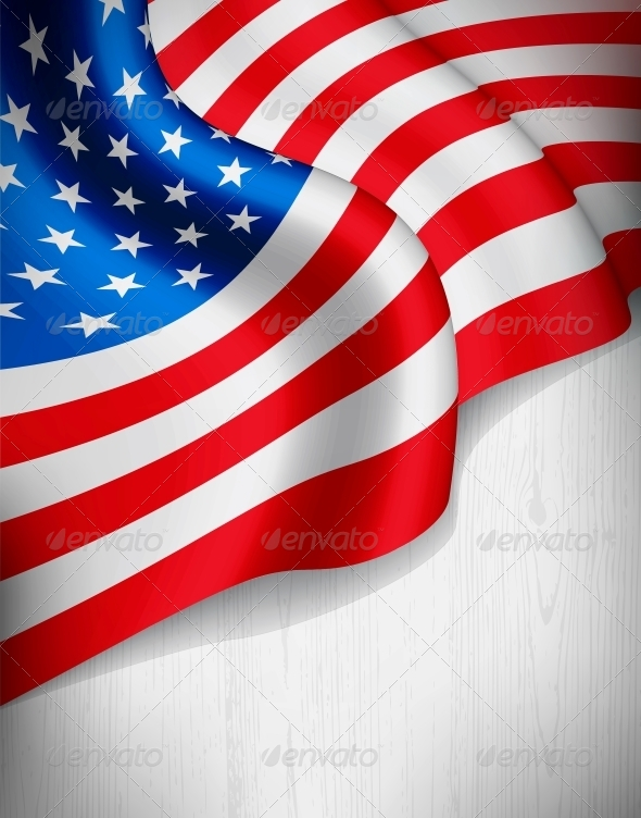 american flag on grey wood background abstract conceptual