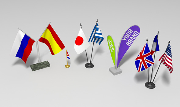 Table decorations flags set