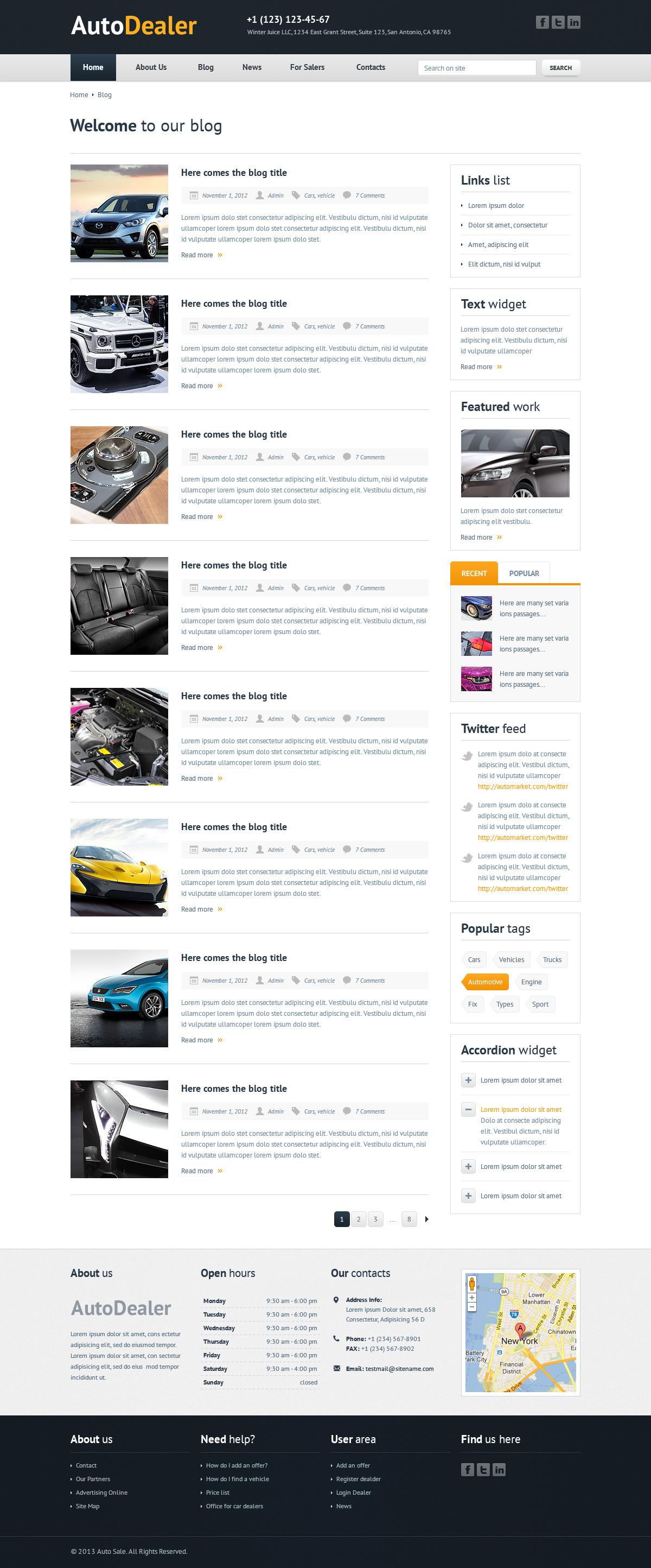 Auto dealer car dealer html template