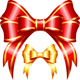Red and Gold Gift Bow and Ribbon - GraphicRiver Item for Sale