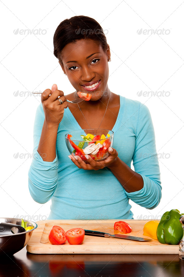Health Conscious young woman - Stock Photo - Images
