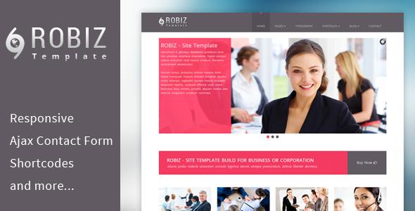 ROBIZ – Responsive Site Template