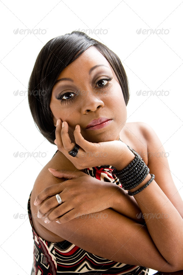 70s African woman - Stock Photo - Images