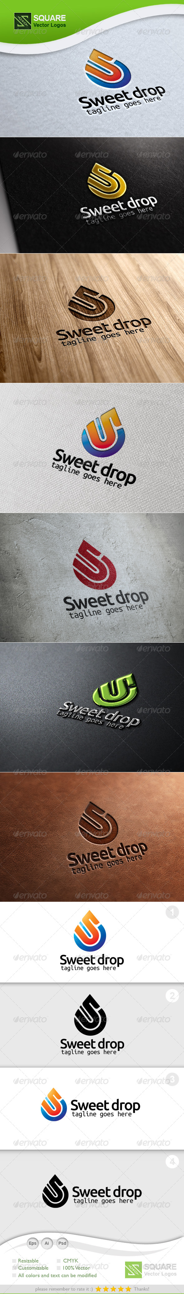 S, Drop Vector Logo Template - Letters Logo Templates