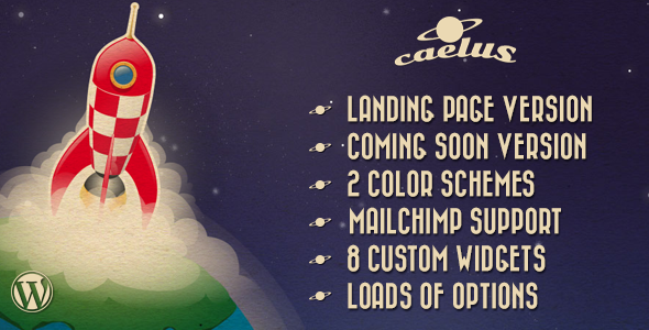 Caelus – App Landing & Coming Soon WP Theme