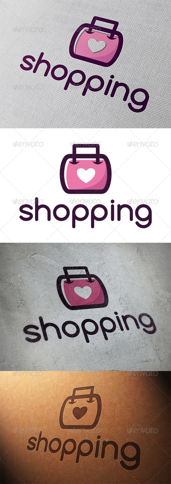 Love Shopping Logo Template By Bosstwinsmusic Graphicriver