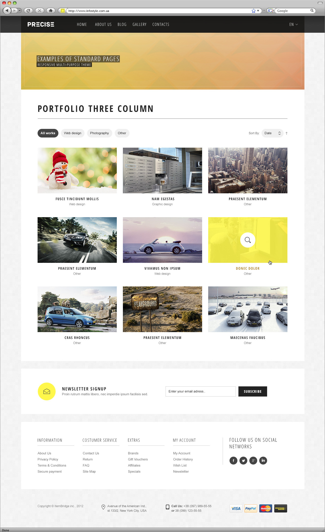 precise multipurpose responsive template by wpway themeforest